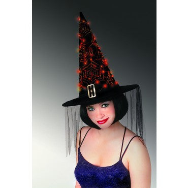 Fiber Optic Web Witch Hat