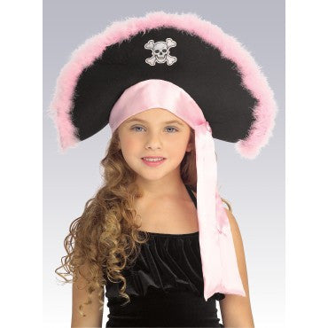Kids Pink Pirate Hat