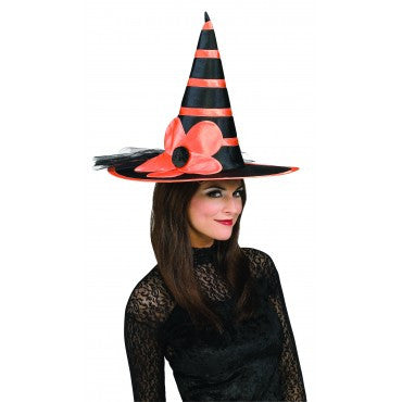 Orange Flowered Witch Hat