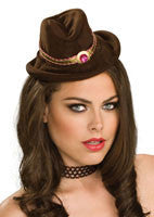 Brown Cowgirl Mini Hat