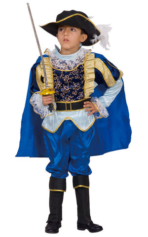 Boys Blue Noble Knight Costume