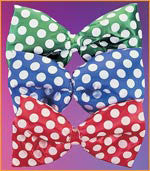 Satin Polka Dot Bow Tie - Various Colors