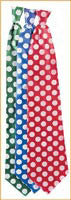 Satin Polka Dot Neck Tie - Various Colors