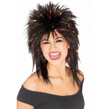 Spiked Tinsel Wig - Various Colors