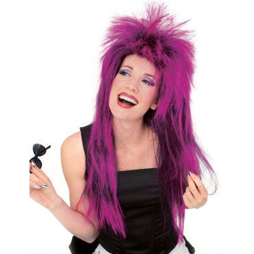 Purple Neon Shag Wig