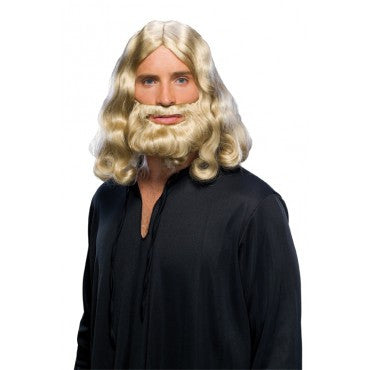 Biblical Wig and Beard Set - Various Colors