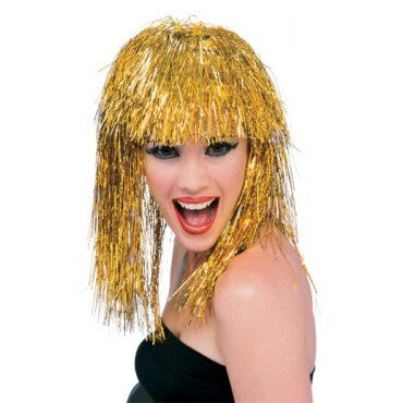 Long Tinsel Wig - Various Colors