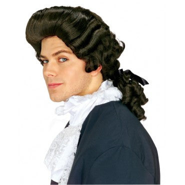 Colonial Man Wig - Various Colors