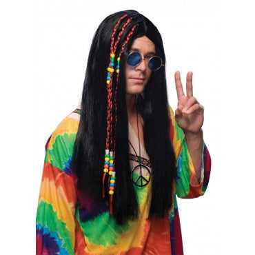 Long Hippie Wigs - Various Colors
