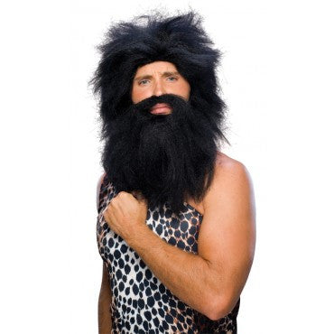 Caveman Beard and Wig Set - Various Colors