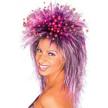 Fiber Optic Spikey Wig - Various Colors