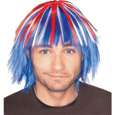 Red White & Blue Wig