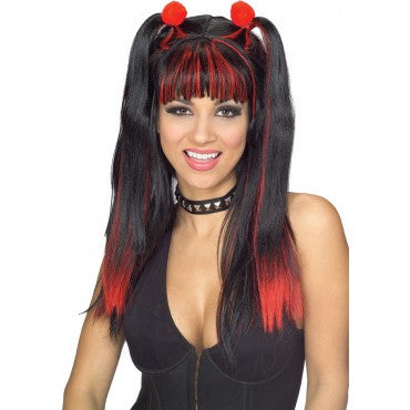 Gothic Cheerleader Wig - Various Colors