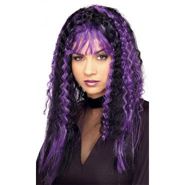 Sinister Crimped Witch Wig - Various Colors