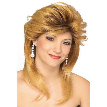 Blonde 80's Used Car Salesgirl Wig