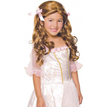 Kids Brown Gracious Princess Wig