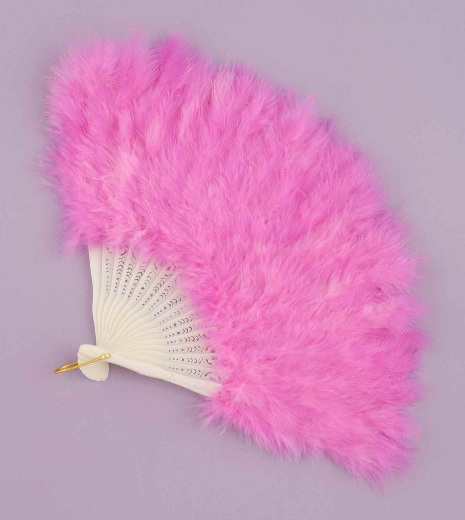 Halloween Costumes Feather Fans Pink