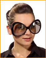 Jumbo Rhinestone Oval Glasses