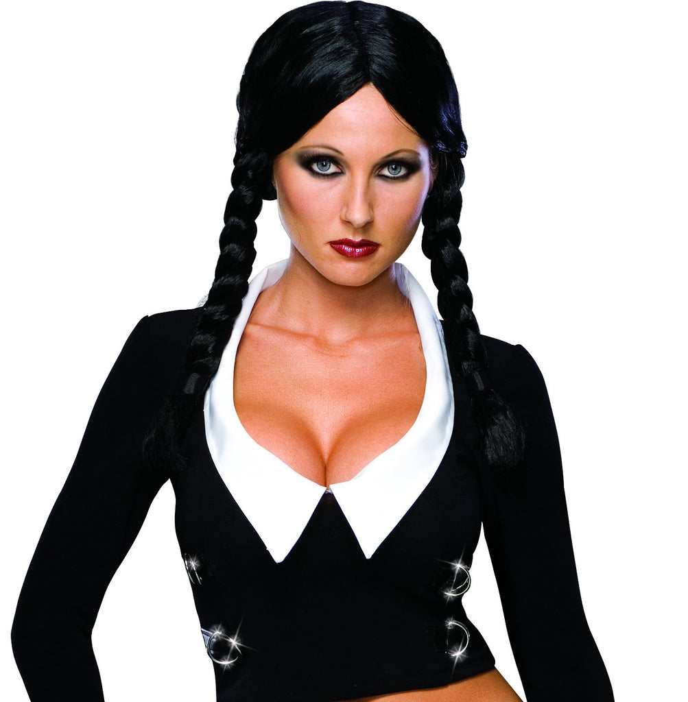 Addams Family Deluxe Wednesday Addams Wig