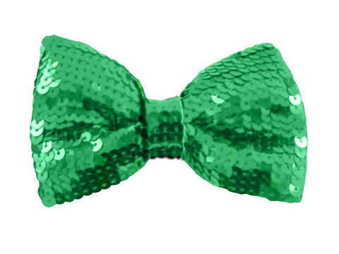 Leprechaun's Green Sequin Bow Tie