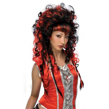 Black and Red Frighten Vampire Wig