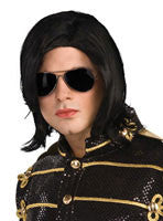 Michael Jackson Straight Wig and Sunglasses