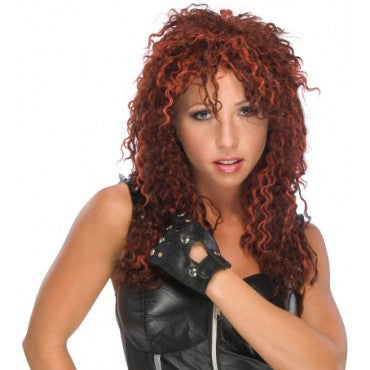 Red U-Rock Star Wig