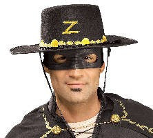 Zorro Hat and Eyemask