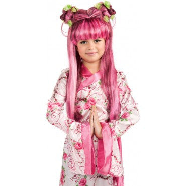 Kids Pink Asian Princess Wig