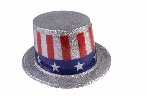 Costume Hats Uncle Sam Glitter Top Hats