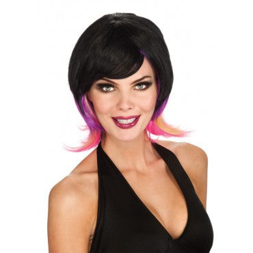 Colorful Streaks Pixie Wig