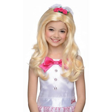 Kids Barbie Bride Wig