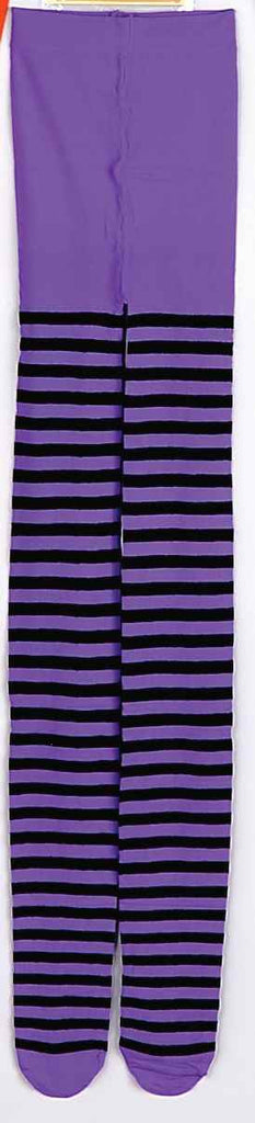 Halloween Costume Tights Purple Stripe Tights