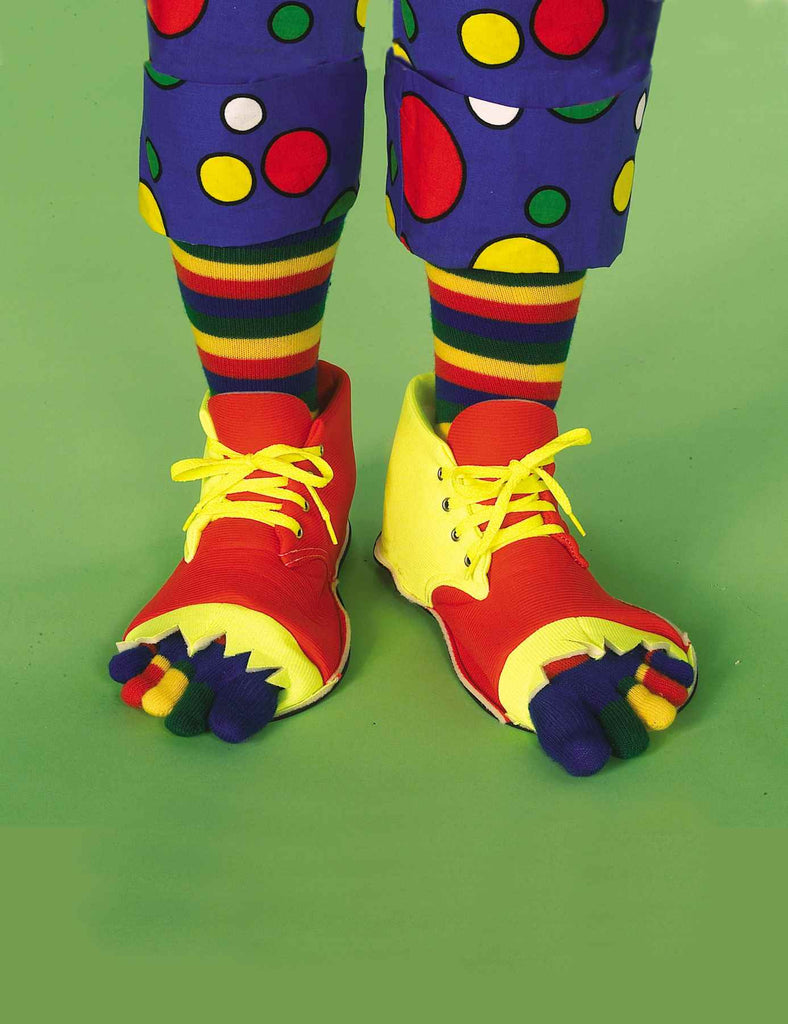 Clown Shoes & Toe Sock Set