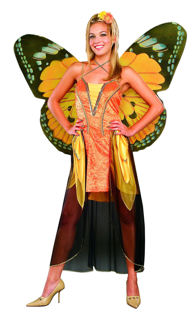 Womens Orange Butterfly Costume