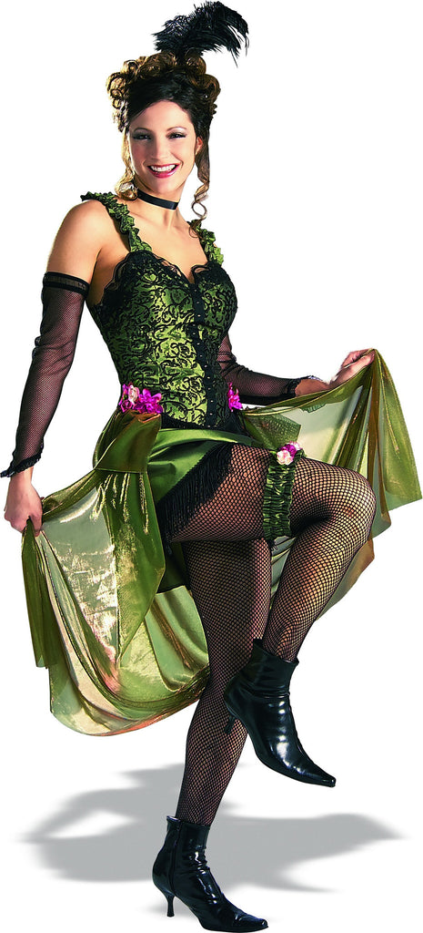 Womens Olive Saloon Girl Costume - Grand Heritage Collection