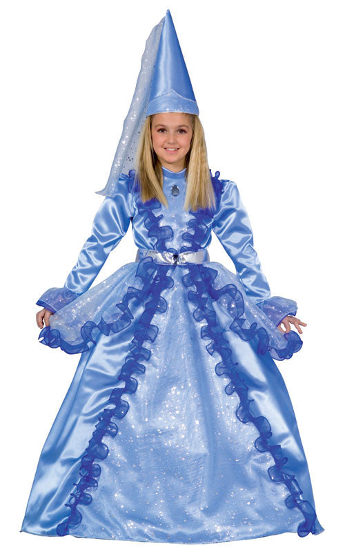 Girls Blue Fairy Princess Costume