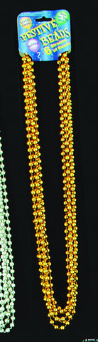 Mardi Gras Beads One Dozen Gold 33 inch Mardi Gras Beads