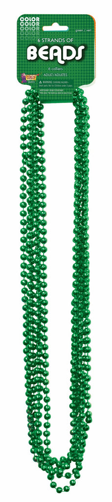 Mardi Gras Beads One Dozen Green 33 inch Mardi Gras Beads