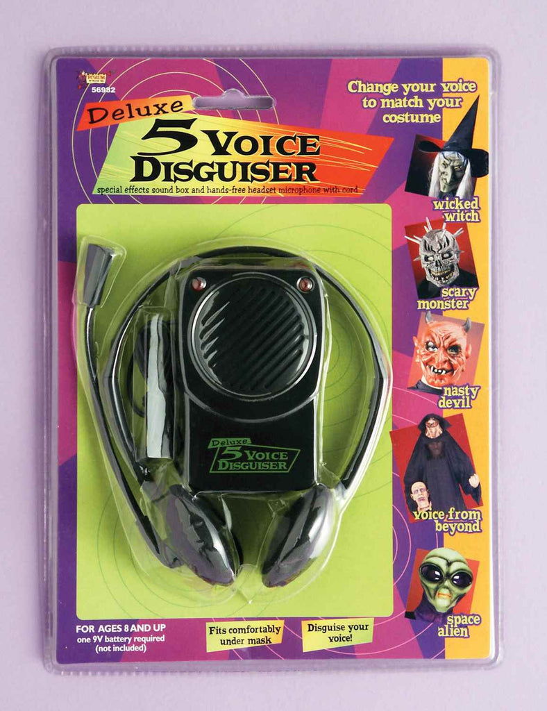 Deluxe Halloween Voice Changer 5 Different Voices