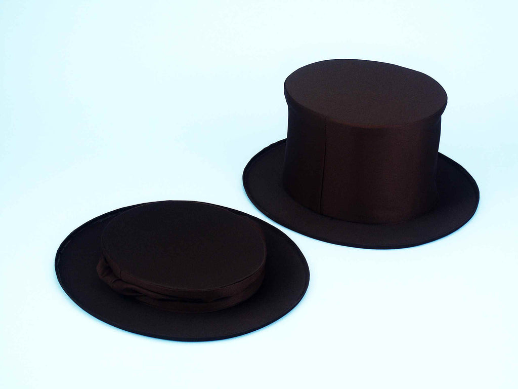 Costume Hats Black Collapasible Top Hats