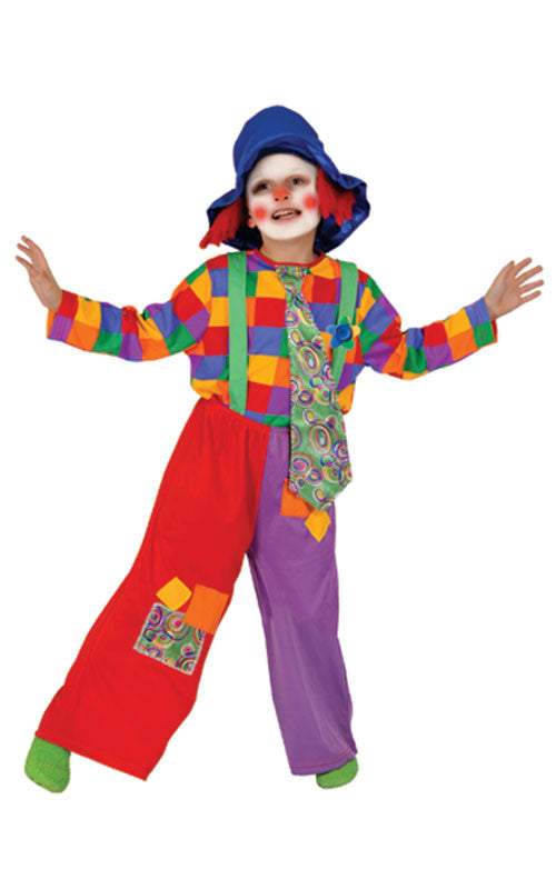Kids/Toddlers Colorful Clown Costume
