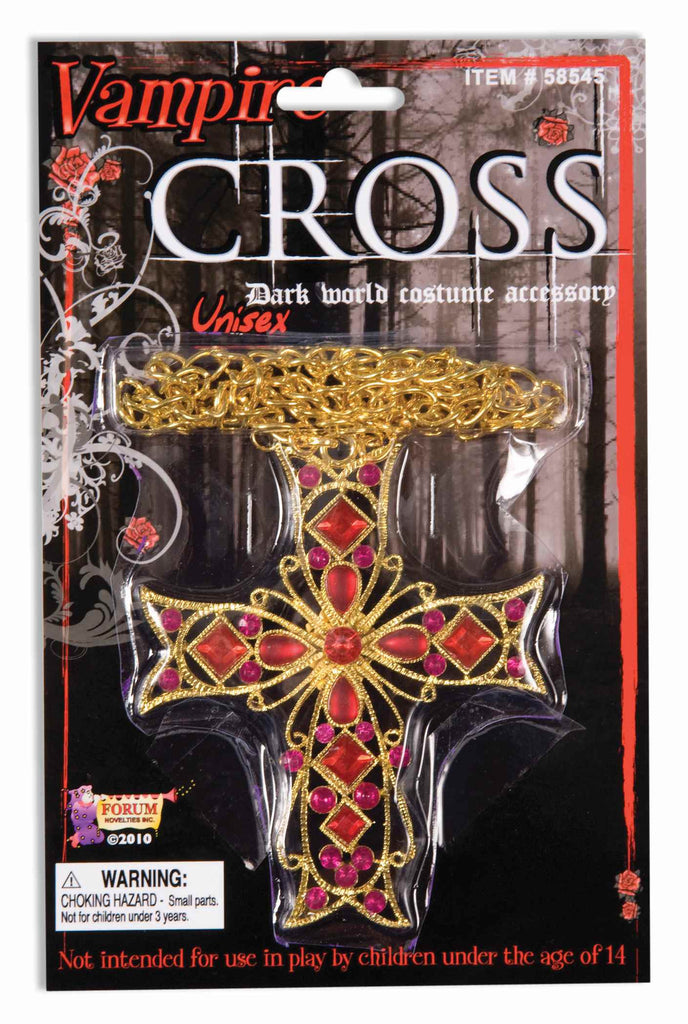 Vampire Costume Gothic Cross Necklace