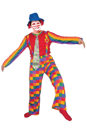 Adults Rainbow Clown Costume