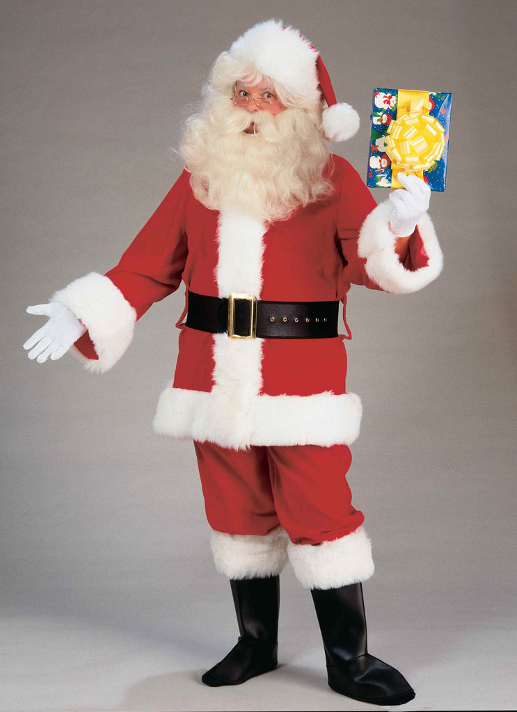 Santa Suits Deluxe Plush Santa Suit