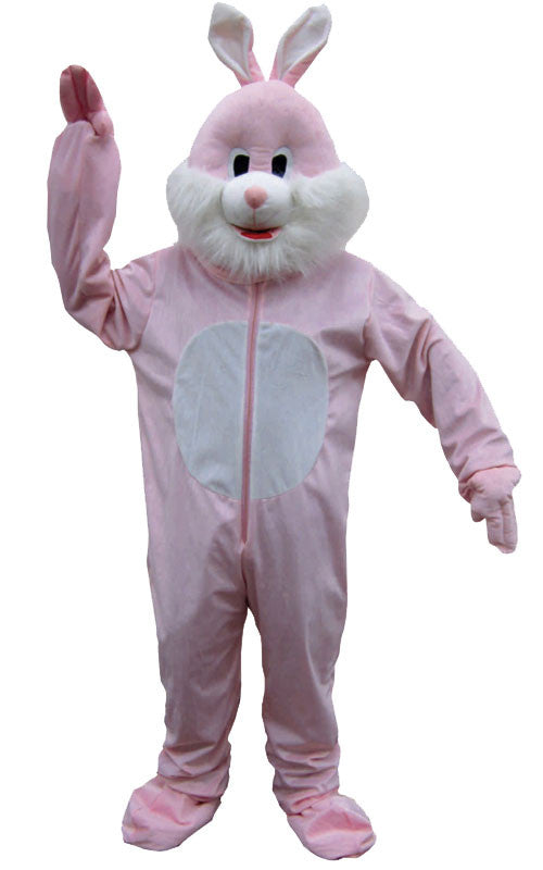 Adults Pink Rabbit Mascot Costume