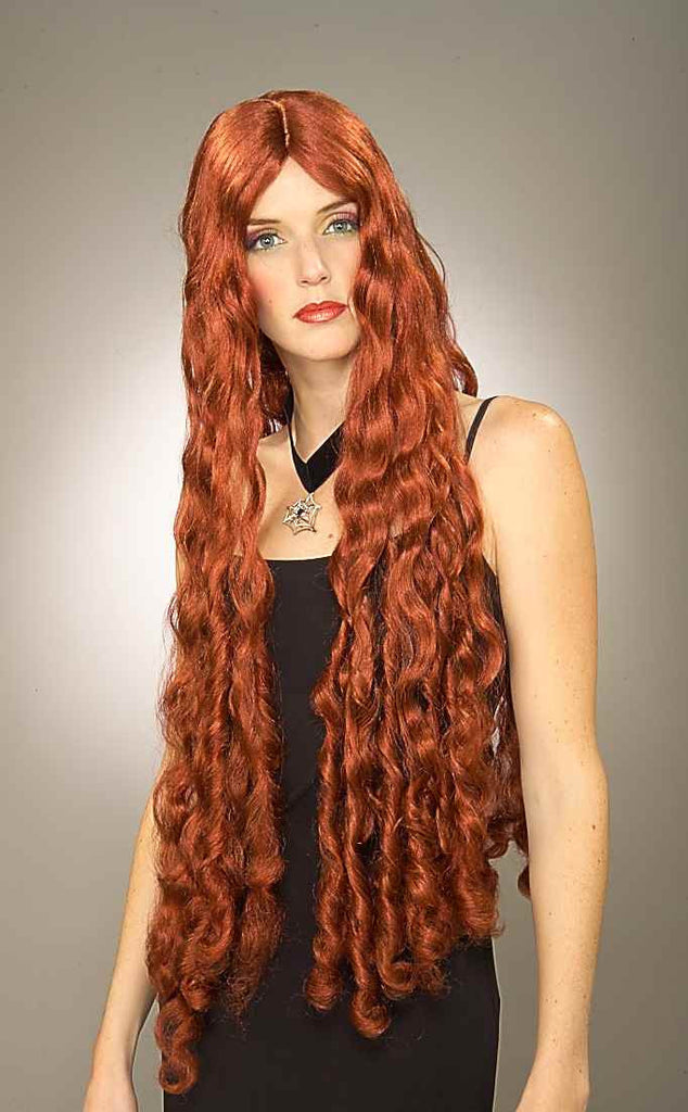 Costume Wigs Long Curly Brown Halloween Wig