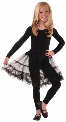 Costume Petticoats Black Crinoline Childs