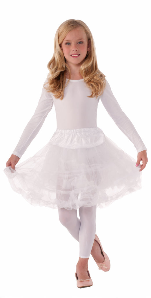 Costume Petticoats White Crinoline Childs