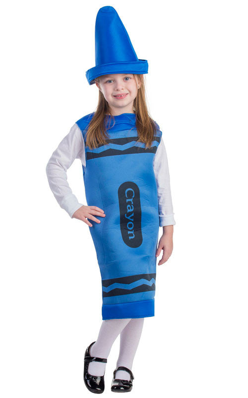Toddlers/Kids Blue Crayon Costume